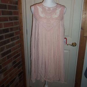 Mossimo Crochet Shift Dress Peach XL